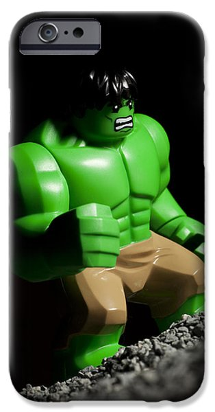 Hulk iPhone Cases - Incredible Hulk iPhone Case by Samuel Whitton