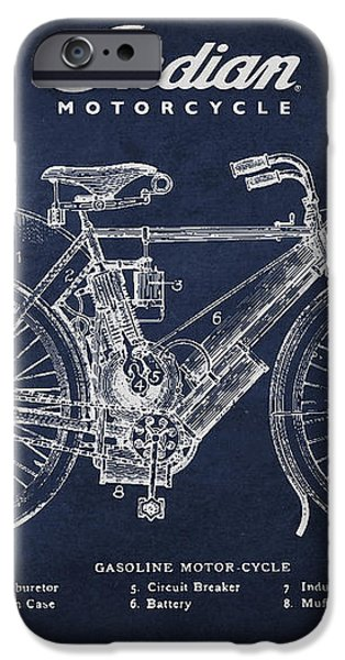 Indian motorcycle iPhone Case by Aged Pixel