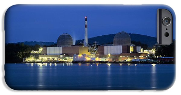 New Generations iPhone Cases - Indian Point Nuclear Power Station iPhone Case by Martin Bond