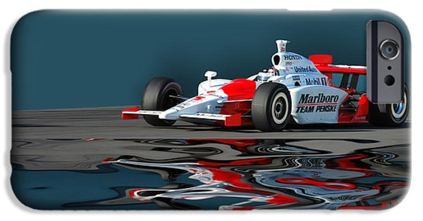 Indy Car iPhone Cases - Indy Reflection iPhone Case by Kevin Cable
