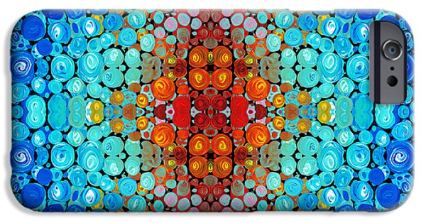 Patterned iPhone Cases - Inner Light - Abstract Art By Sharon Cummings iPhone Case by Sharon Cummings