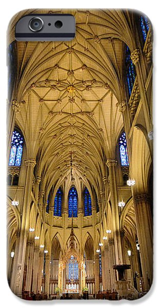 Inside St Patricks Cathedral New York City iPhone Case by Amy Cicconi