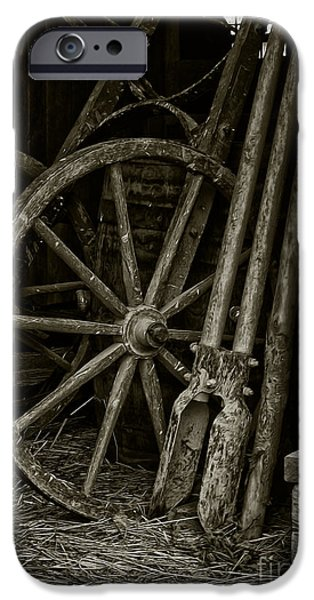 Work Tool iPhone Cases - Inside The Barn iPhone Case by Brian Mollenkopf