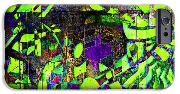 Abstract Digital Art iPhone Cases - Interstate 10- Exit 259- 22nd St/ Star Pass Blvd Underpass- Rectangle Remix iPhone Case by Arthur BRADford Klemmer