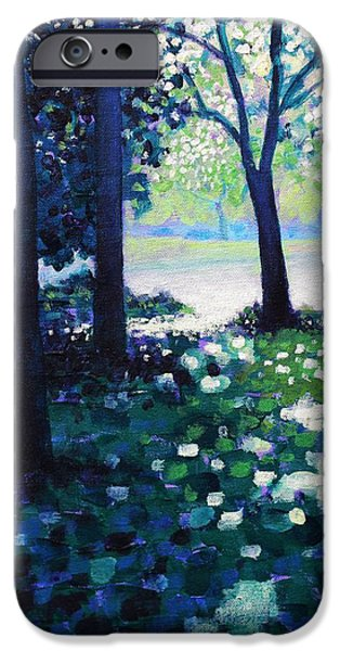 Tree Art Print iPhone Cases - Into The Light    Cropped Version iPhone Case by John  Nolan