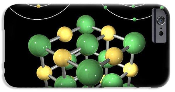 Bonding iPhone Cases - Ionic Bonding In Sodium Chloride, Artwork iPhone Case by Carlos Clarivan