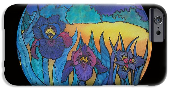 Mountain Tapestries - Textiles iPhone Cases - Iris sunrise  iPhone Case by Annelle Woggon