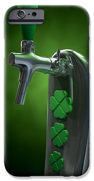 Faucet iPhone Cases - Irish Beer Tap iPhone Case by Allan Swart