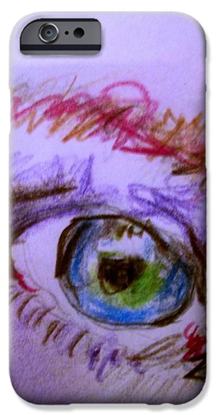 Macro Drawings iPhone Cases - Irish Passion  iPhone Case by Allen n Lehman