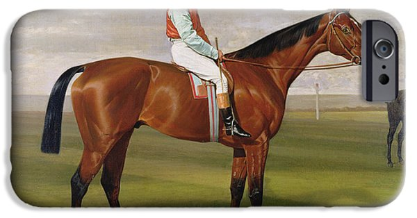 The Horse iPhone Cases - Isinglass Winner of the 1893 Derby iPhone Case by Emil Adam