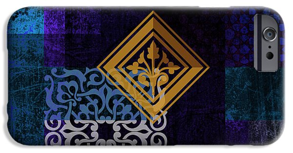 Calligraphy Print iPhone Cases - Islamic Motives iPhone Case by Corporate Art Task Force