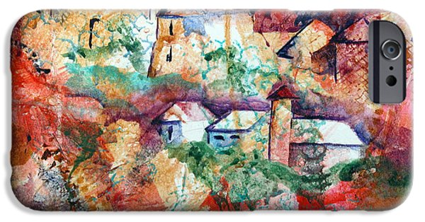 Village Pastels iPhone Cases - Italian Village iPhone Case by Randy Ross