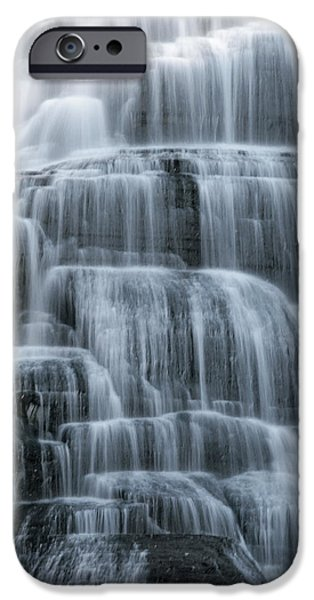 Ithaca Water Falls New York Panoramic Photography iPhone Case by Paul Ge