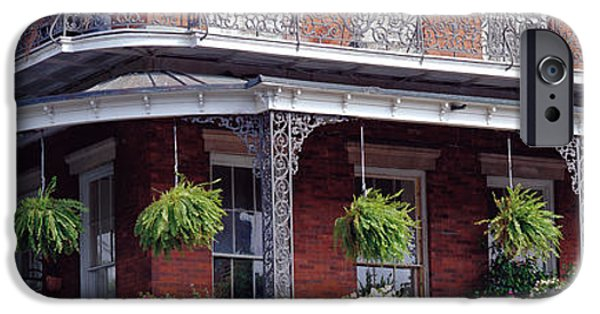 Balcony iPhone Cases - Jackson Square, French Quarter, New iPhone Case by Panoramic Images