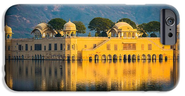 Submerged iPhone Cases - Jal Mahal iPhone Case by Inge Johnsson
