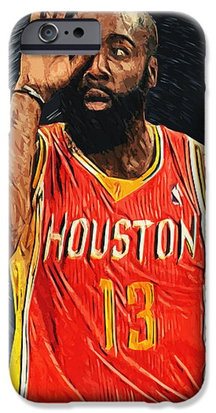 All Star iPhone Cases - James Harden iPhone Case by Taylan Soyturk