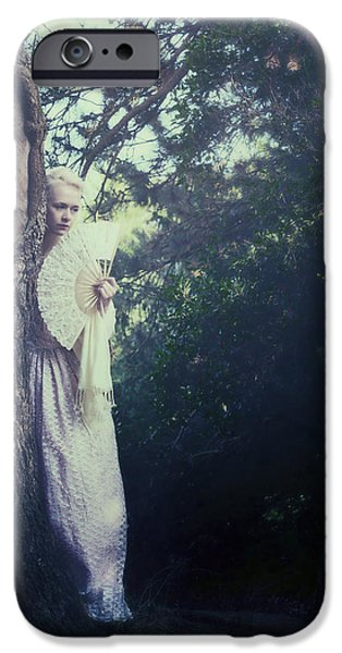 Hiding Photographs iPhone Cases - Jane Austen iPhone Case by Joana Kruse