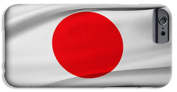 Flag iPhone Cases - Japanese flag iPhone Case by Les Cunliffe