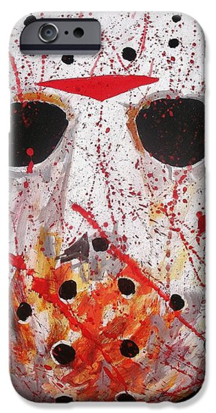 Goalie Paintings iPhone Cases - Jason iPhone Case by Jeremy Moore