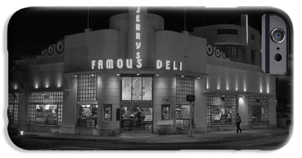 Delicatessen iPhone Cases - Jerrys Famous Deli - Miami Beach iPhone Case by Mountain Dreams