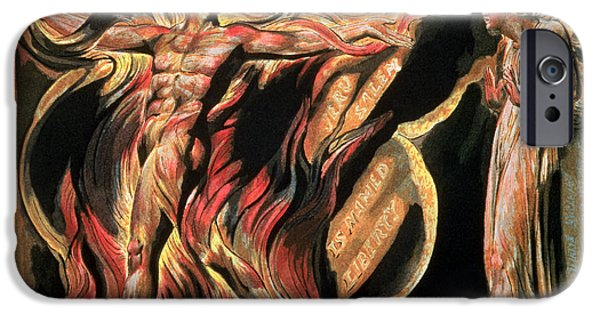 William Blake Drawings iPhone Cases - Jerusalem The Emanation of the Giant Albion iPhone Case by William Blake