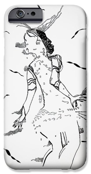 Jesus Drawings iPhone Cases - Jerusarema or Mbende dance - Zimbabwe iPhone Case by Gloria Ssali