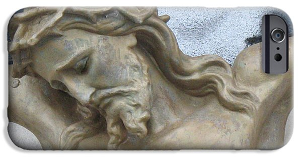 Jesus Photographs iPhone Cases - Jesus - Christian Art - Religious Statue of Jesus iPhone Case by Kathy Fornal