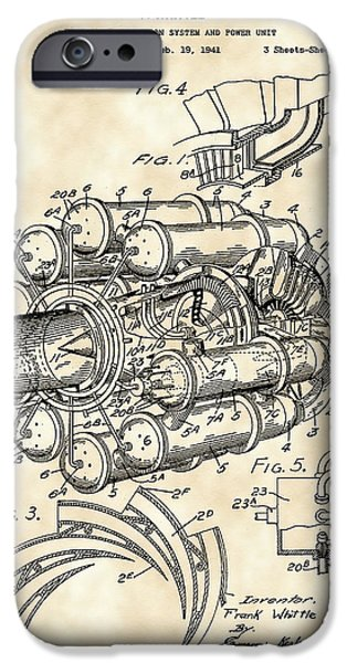 Combustion iPhone Cases - Jet Engine Patent 1941 - Vintage iPhone Case by Stephen Younts