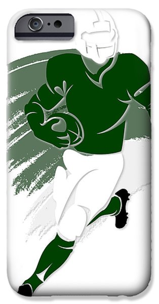 New York Jets iPhone Cases - Jets Shadow Player2 iPhone Case by Joe Hamilton