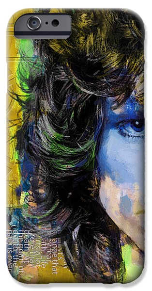 Strange iPhone Cases - Jim Morrison iPhone Case by Corporate Art Task Force