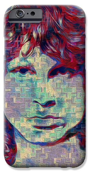 Jim Morrison iPhone Case by Jack Zulli