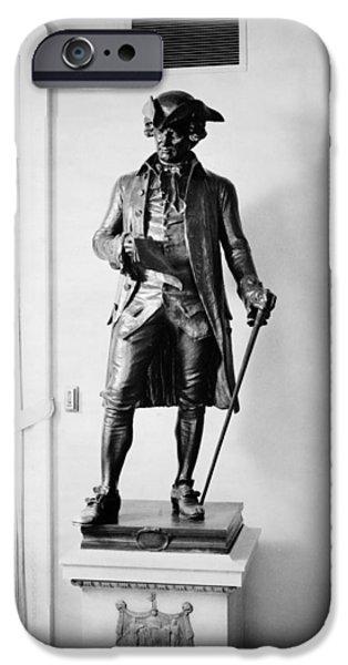 Statue Portrait iPhone Cases - John Hanson (1721-1783) iPhone Case by Granger