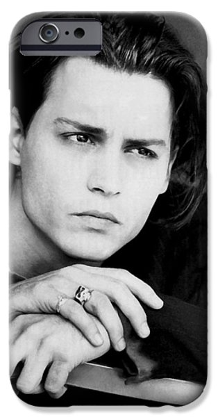 Beautiful People iPhone Cases - Johnny Depp iPhone Case by Karon Melillo DeVega