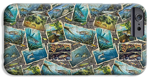 Musky Paintings iPhone Cases - Jon Q Wright Fish Paintings Bedding iPhone Case by Jon Q Wright