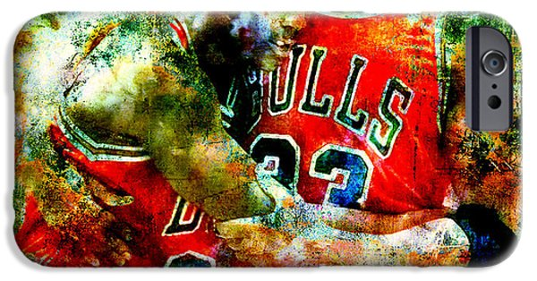 Pippen iPhone Cases - Jordan and Pippen iPhone Case by Brian Reaves