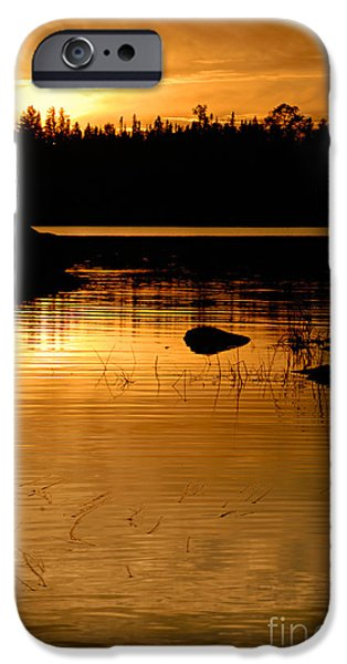 Jordan iPhone Cases - Jordan Lake Sunset iPhone Case by Larry Ricker