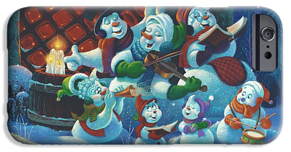 Michael Paintings iPhone Cases - Joy to the World iPhone Case by Michael Humphries