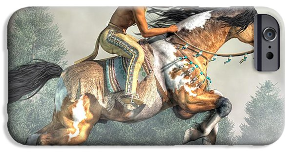 Nation iPhone Cases - Jumping Horse iPhone Case by Daniel Eskridge
