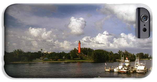 Lighthouse iPhone Cases - Jupiter Inlet iPhone Case by Skip Willits