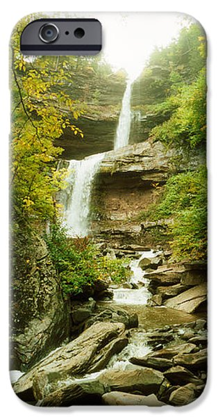 Fall iPhone Cases - Kaaterskill Falls In Autumn, New York iPhone Case by Panoramic Images