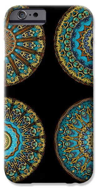 Kaleidoscope Steampunk Series Montage iPhone Case by Amy Cicconi