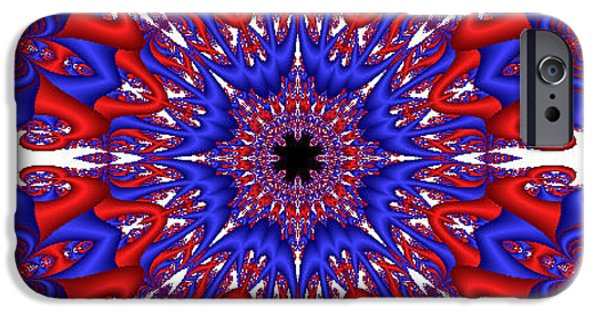 Kaleidoscopic Paintings iPhone Cases - Kaleidoscopic Fractal iPhone Case by Bruce Nutting