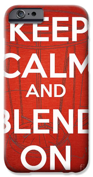 Blend iPhone Cases - Keep Calm and Blend On iPhone Case by Edward Fielding