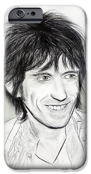 Keith Richards iPhone Cases - Keith Richards 77 iPhone Case by Ruth Jamieson