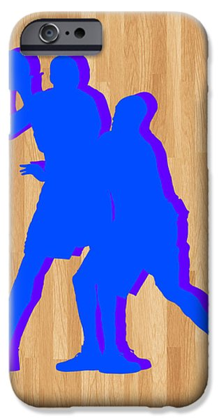 Dunk iPhone Cases - Kevin Durant Kobe Bryant iPhone Case by Joe Hamilton