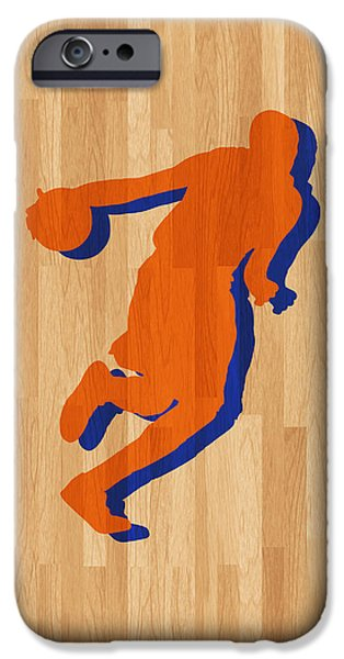 Dunk iPhone Cases - Kevin Durant Oklahoma City Thunder iPhone Case by Joe Hamilton