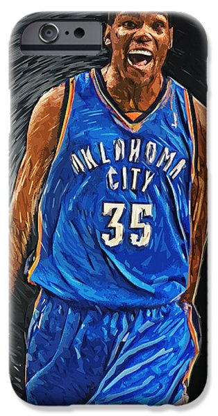 Kevin Durant iPhone Case by Taylan Soyturk