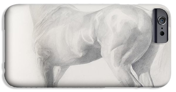 Animals Drawings iPhone Cases - Kicking Off iPhone Case by Emma Kennaway