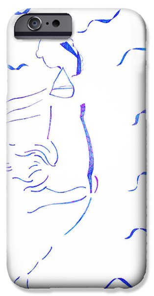 Jesus Drawings iPhone Cases - Kiganda Dance  iPhone Case by Gloria Ssali
