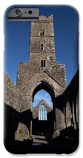 Antiquated iPhone Cases - Kilconnell Friary Founded In 1353 iPhone Case by Panoramic Images